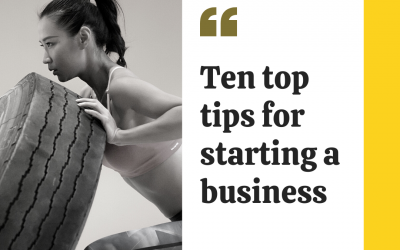 10 top tips for staring your business